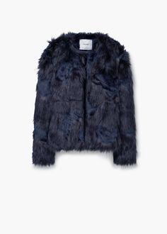 Faux fur coat   MANGO