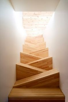 Hmmm…  Maybe a solution for our very, very steep stairway.  Stairs by TAF Arkitektkontor