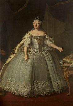 Portrait of Empress Elizaveta Petrovna by Ivan Vishnyakov, 1743 - Wikimedia Commons