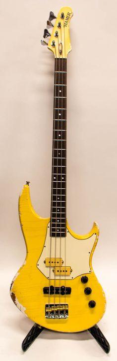 b7f9d8694fb 1984 Vintage Hamer Cruise 4 String Electric Jazz Bass Guitar - Aged White ☑