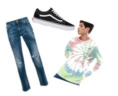 """cute guy look"" by buggy0730 on Polyvore featuring Puma, Dolce&Gabbana, Vans, men's fashion and menswear"