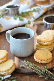 Elodie's Bakery: Lemon cream and thym shortbreads   Biscuits au thym frais et crème citronnée