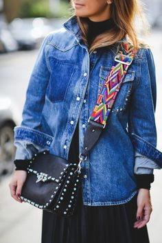 Louise Redknapp| Street Style| Denim Shirt| Denim Jacket| Denim Shacket| Spring Style| Valentino| A Style Album by Lou & Em