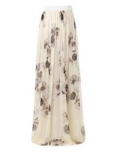 Shop over top chiffon skirt all in one place. Also set Sale Alerts and shop Exclusive Offers only on ShopStyle UK. Long Pleated Maxi Skirt, White Maxi Skirts, Chiffon Skirt, Silk Chiffon, Chiffon Tops, Long Skirts, 2 Piece Wedding Dress, Ankle Length Skirt, Giambattista Valli