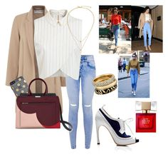 """""""High Waisted Jeans Inspired!"""" by emma-oloughlin ❤ liked on Polyvore featuring Miss Selfridge, Thom Browne, Kate Spade, Michael Kors, StreetStyle, chic, kendalljenner and highwaistedjeans"""
