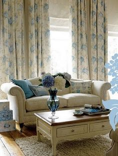 calm Laura Ashley. This is so similar to how I see the living room....