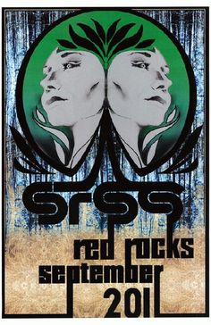 Concert poster for Sound Tribe Sector 9 at Red Rocks in Morrison, CO in 2011. 11x17 inches on card stock.