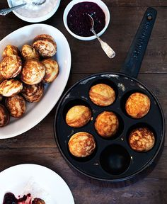 Doughnuts (æbleskiver) from Scandinavian Baking: Sweet and Savory Cakes and Bakes, for Bright Days and Cozy Nights, by Trine Hahnemann