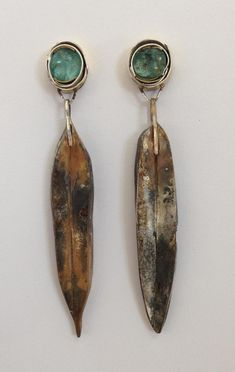 Micki Lippe - Earrings || Sterling silver, glass || 2 inches long