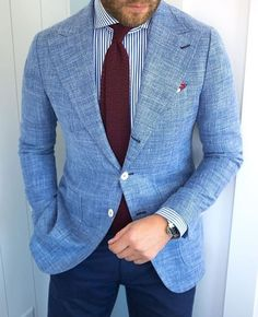 Blue Blazer Outfit Men, Blazer Bleu, Blazer Outfits Men, Blazer And Shorts, Blazer Fashion, Mens Fashion Suits, Beige Blazer, Mode Costume, Designer Suits For Men