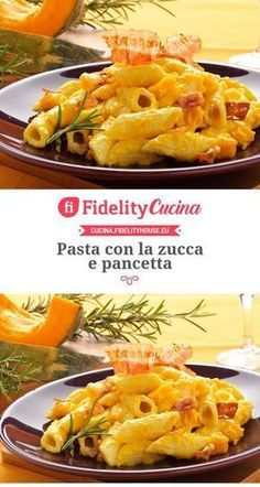 Pasta con la zucca e pancetta - Mode Italiano Cooking Temp For Beef, Cooking Meme, Cooking Panda, Cooking Bacon, Cooking Oil, Cooking Boneless Pork Chops, Cooking Pork Roast, Ricotta Pasta, Al Dente