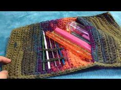 Bolsa para tus ganchos - Funda a Crochet - súper fácil - YouTube