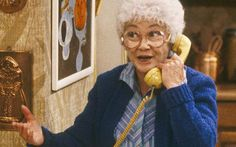 Estelle Getty as Sophia in The Golden Girls: 'I had a terrible white wig, a cardigan and an old handbag'