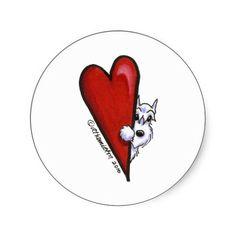 i love schnauzers | Love My White Schnauzer Stickers from Zazzle.com