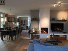 Most current Images Fireplace Remodel for tv Concepts The post appeared first on Raumteiler ideen. Paint Colors For Living Room, New Living Room, Home And Living, Fireplace Remodel, Fireplace Design, Family Room, Sweet Home, New Homes, House Design