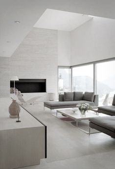 Modern Living Room Design At Casa Fontana by Stanton Williams Architects