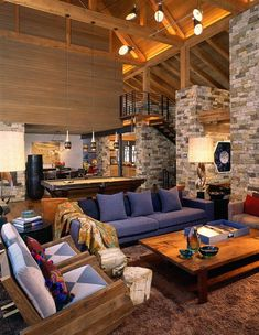 Wilson Mountain Residence - rustic - living room - other metro - by Poss Architecture + Planning + Interior Design Western Living Rooms, Small Living Rooms, Home Living Room, Living Room Designs, Modern Living, Rustic Home Design, Home Interior Design, Interior Architecture, Interior Colors