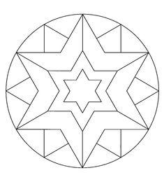 Mandala étoile #mandala #mandalas #coloriage