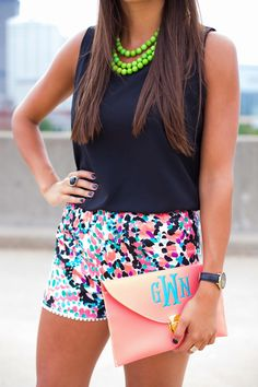 A Southern Drawl: Lilly Print Shorts from Custom Lilly