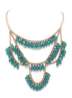 Teal Fanfare Necklace – Modeets