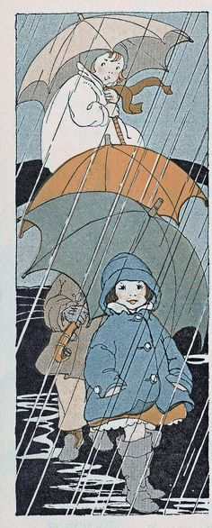 "The Rain Song  by katinthecupboard - The Rain Song - Illustrator Shirley Kite.  -  ""The Music Hour; First Book"" published by Silver, Burdette and Company. Copyright 1927. By Ossbourne McConathy, W. Otto Miessner, Edward Birge, and Mabel E. Bray."