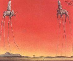 Salvador Dali, Elephants, 1948