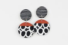 Vicki Earrings by Klara Borbas: Polymer Clay Earrings available at www.artfulhome.com