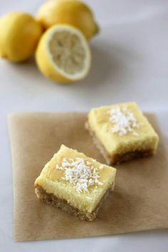 Dairy & Grain Free Meyer Lemon Bars