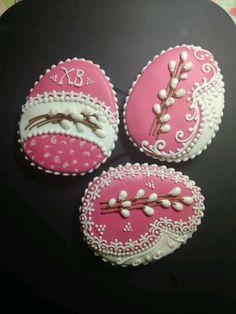 Tea Cookies, Flower Cookies, Easter Cookies, Sugar Cookies, Easter Flowers, Royal Icing, Happy Day, Happy Easter, Cookie Decorating