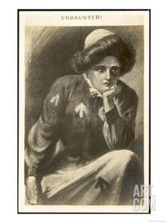 Undaunted, a Suffragette in Prison Uniform Contemplates Giclee Print at Art.com