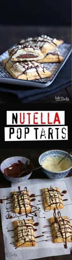 Delicious little Nutella Pop Tarts | Bake to the roots by stacey