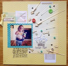 Toddler layout with arrows. My Scrappy Life