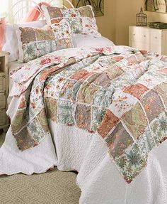 """The Clementine Ragged Bedspread or Sham completes the look of your home's delightful country cottage theme. Both the Bedspread and the Sham (26""""W x 20""""L) have v"""
