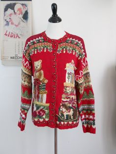 Vintage Tacky Ugly Christmas Sweaters Ugly Sweater 26f36beb5