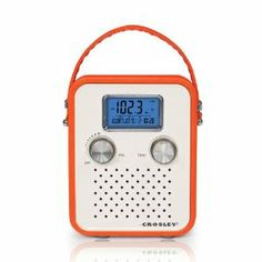 Crosley CR8006A-OR Songbird Radio - Orange by Crosley. $25.00. Crosley Songbird Radio. Tote around your tunes with the stylish Crosley Songbird Radio. Just pop in some batteries and carry your AM/FM radio anywhere you need to go. Features a PAR cable and an AC power adapter so you can plug-in as soon as you get to work or home. Turn the digital tuner to your favorite radio station or plug in your portable audio device and listen to music or talk shows on the radio's dynamic...