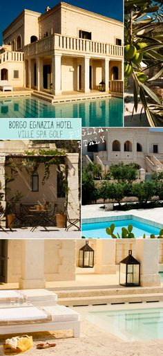 Borgo Egnazia Hotel Ville Spa Golf - resort in the south of Italy, Adriatic sea