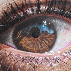 Color pencil drawings, Hyper Realistic Eyes by Redosking