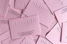 A little goes a long way 🌸 Beautiful minimalism with a blind emboss on Colorplan Candy Pink and Indigo black on the back for the… Logo Design, Graphic Design Branding, Identity Design, Print Design, Embossed Business Cards, Business Card Design, Black Business Card, Letterpress Business Cards, Corporate Design