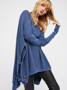 FP One Blue FP One Interlaken Tunic at Free People Clothing Boutique