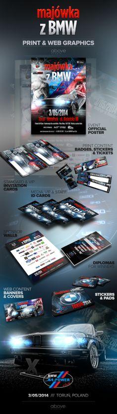 Print & web content design for BMW MPower Club Toruń, Poland.