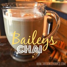 i'm making this delicious comfort drink today to warm up from the cold! 2 ounces Baileys® Original or Homemade Irish Cream ½ ounce vanilla flavored vodka 6 ounces hot chai tea (use 2 teabags for a spicier taste) Holiday Drinks, Fun Drinks, Yummy Drinks, Alcoholic Drinks, Christmas Drinks, Holiday Recipes, Tea Cocktails, Cocktail Recipes, Cocktail Sauce