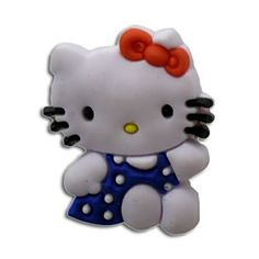 Hello Kitty with blue Dress style your Crocs shoe Charm  1555 f8ba9ffc6870a