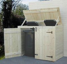 Ya sea para la ropa, para la basura o para lo que quieras almacenar, unos prácticos contenedores de madera lucen siempre mejor que cualquier contenedor de plástico. Y el palet, como siempre, se con…