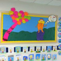 """""""We Speak For the Trees"""" The bright colors of this bulletin board for """"The Lorax"""" by Dr. Seuss will capture everyone's eyes when they see this bulletin board display."""