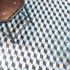 In love with this geometric tiled floor captured by @mrjamesparker