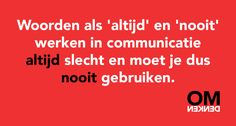 omdenken.nl Text Quotes, Words Quotes, Sayings, Uplifting Quotes, Inspirational Quotes, Dutch Quotes, Good Communication, True Words, Daily Quotes