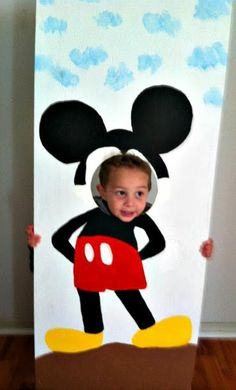 #Mickey Mouse Birthday Party Ideas# Mickey wooden cut out
