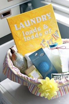 DIY Laundry Fun Gift Basket for the New Homeowner or Daughter Off to College