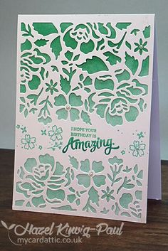 Stampin' Up Detailed Floral Thinlits.