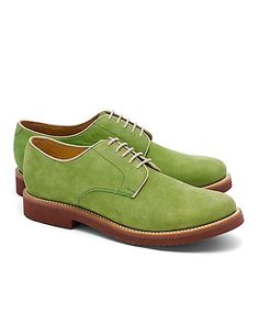 78f6717e865ab These Brooks Brothers Classic Buck shoes in green are pretty darn sweet.  I d date a man who wore these.